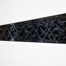 A Representative, 2011, Steel shelving components, 18 ½ x 147 x 18 ½ inches