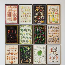 Compendium (Capital), 2011, Framed posters 38 x 25 ¾ inches each, 115 ½ x 105 1/4 inches overall