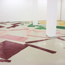 Off Colour, 2010, Dye, synthetic velvet, dimension variable - Installation view: D'Amelio Galley, New York